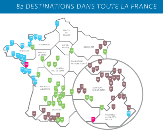 Cap France - 82 destinations rando dans toute la France