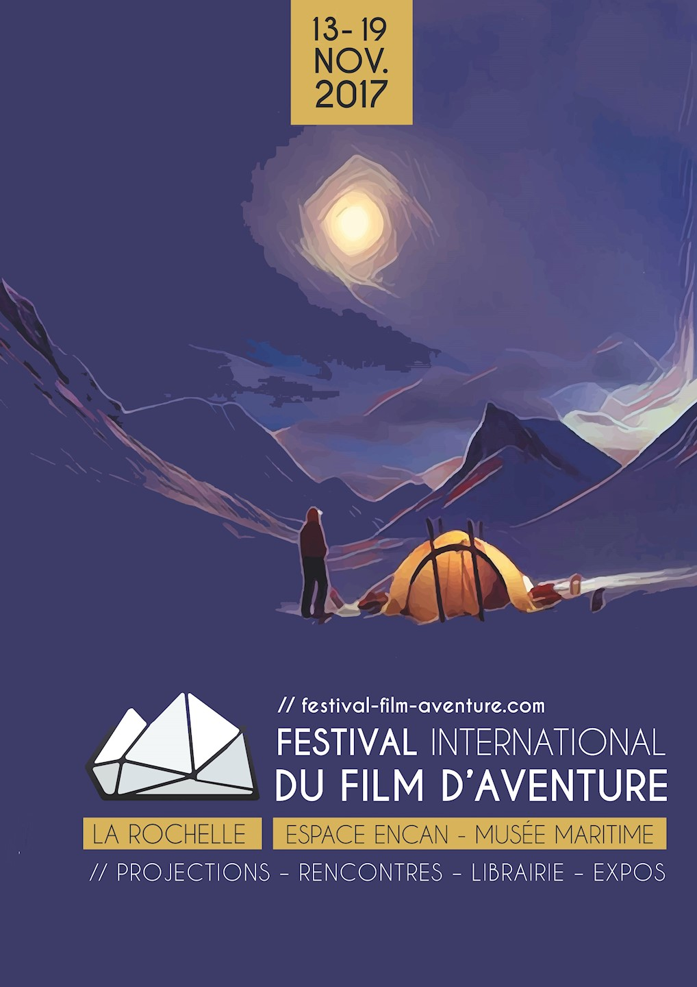 Affiche de la 14ème édition du Festival International du Film d'Aventure