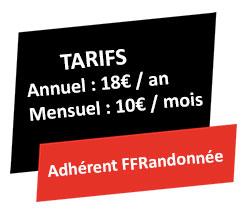 Tarifs Adhérent FFrandonnée GR @ccess