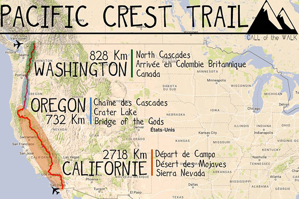 Call of the Walk - itinéraire du Pacific Crest Trail
